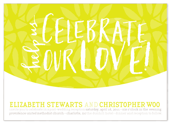 wedding invitations - saffron celebration by Lauren Fasnacht
