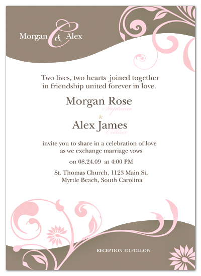 wedding invitations - Love in Bloom by Bella Expressions-Linda Birtel