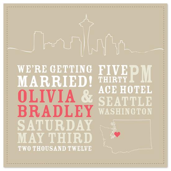 wedding invitations - Skyline City by GZ