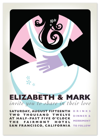 wedding invitations - Deco Couple by Carrie English