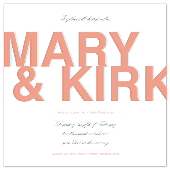 wedding invitations - All in the Name by MelStudio