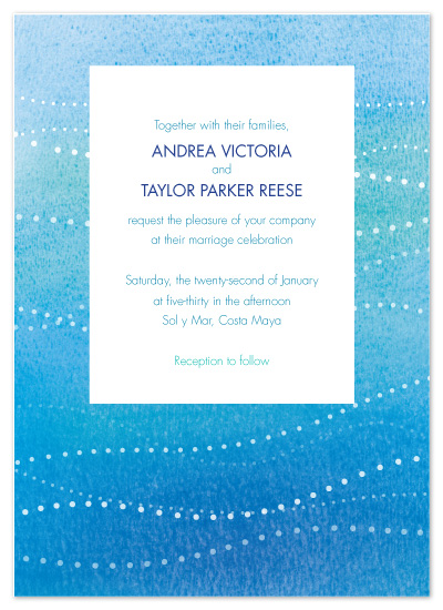 wedding invitations - Deep Blue Water by Kay Lind