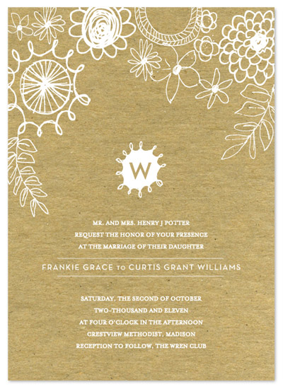wedding invitations - knobbly blooms by SD Design