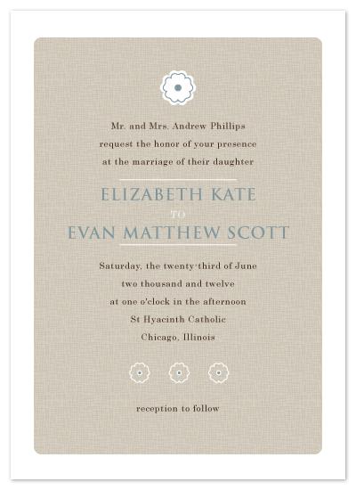 wedding invitations - Sweet Flower Linen by Samantha Venator