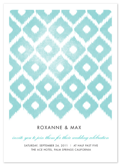 wedding invitations - fresh ikat by Alethea and Ruth