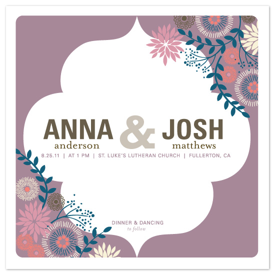 wedding invitations - Center Stage by Alethea and Ruth