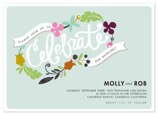wedding invitations - celebrate florals by Alethea and Ruth