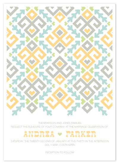 wedding invitations - Love Ikat by 2birdstone