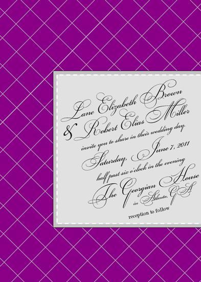wedding invitations - Purple Plaid by Fish Feather