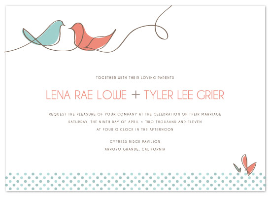 Bird Wedding Invitation: Birds Of A Feather At Minted.com