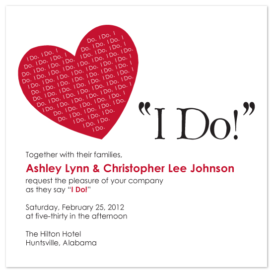 wedding invitations - I Do!  I Do! by melmade