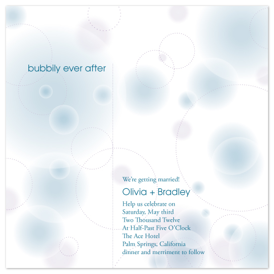 wedding invitations - Bubbily Ever After by Jodi Baglien Sparkes