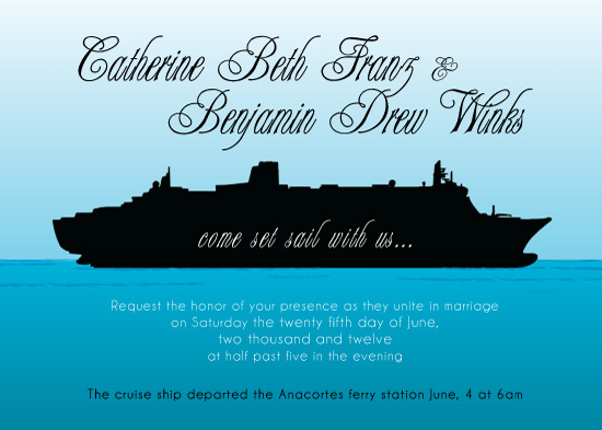 Wedding Cruise Invitations guitarreviewsco