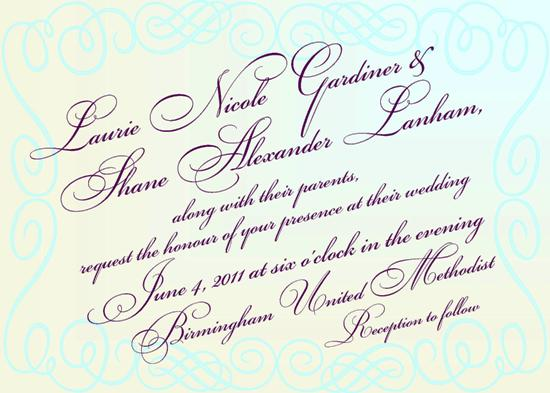 wedding invitations - Scriptyloo by Fish Feather