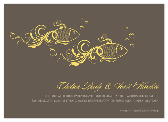 Wedding Invitations One Fish Two At Minted Com