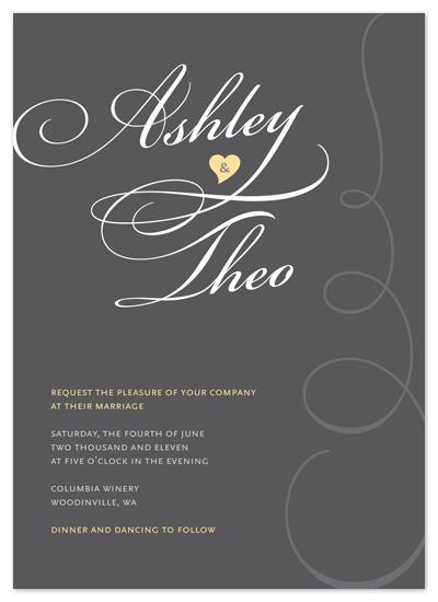 wedding invitations - Sweet Swirls by Deïaneira Design