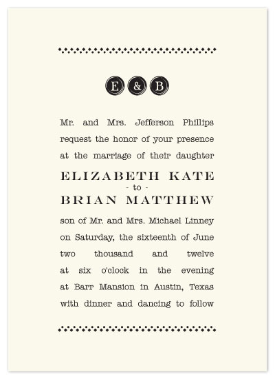 wedding invitations - Vintage Typewriter by Charly Rhea
