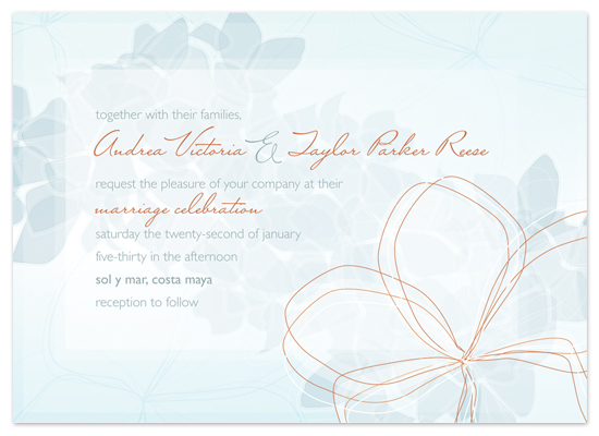 wedding invitations - Pebble Flower by Rebecca Wendt