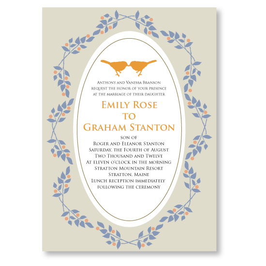 wedding invitations - Vintage Love Birds by Lisa Wcislo