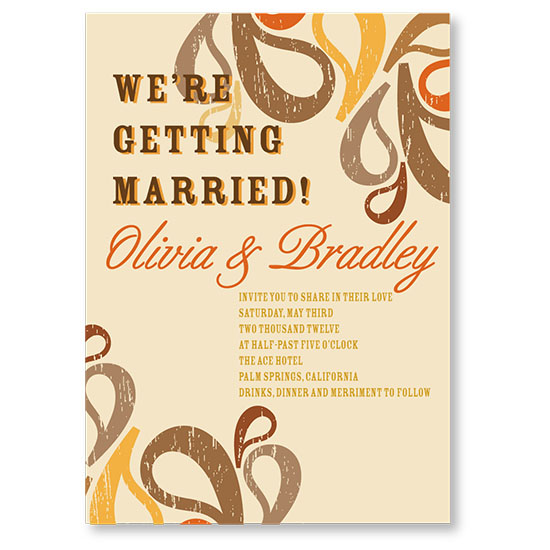 wedding invitations -  Modern Paisley  by Lisa Wcislo