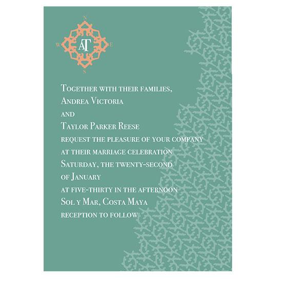 wedding invitations - Coral Seas by Lisa Wcislo