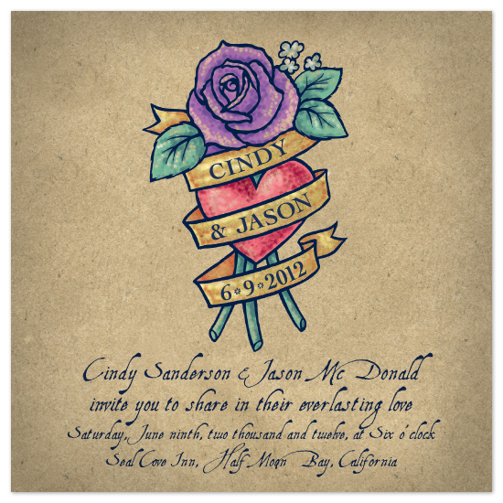 wedding invitations - Tattoo by Carrie English
