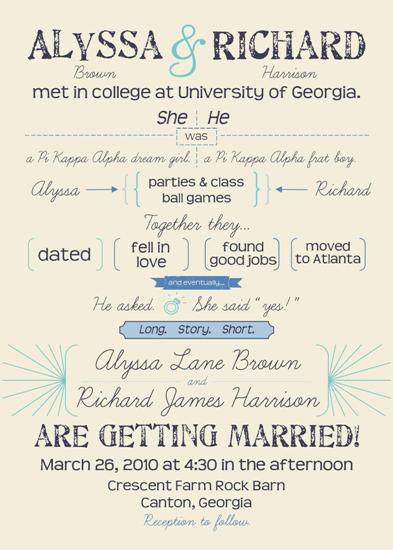 Wedding invitations long story short at minted wedding invitations long story short by fish feather stopboris Choice Image