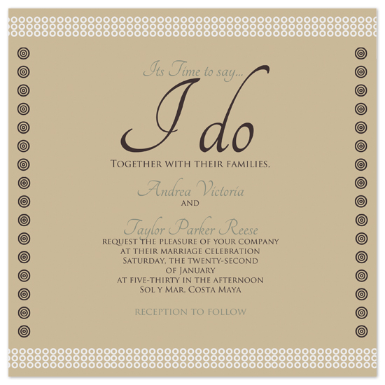 Wedding Invitations Time To Say I Do By Jessica Termini