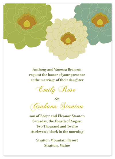 wedding invitations - Vintage Flowers by Red Turtle