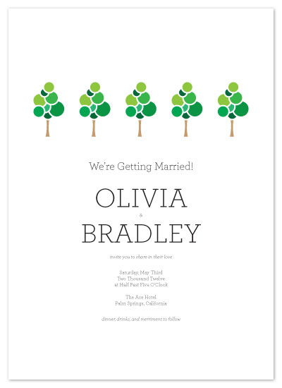 wedding invitations - Seasonal Invitations by Katie Gavenda