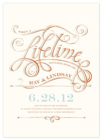 wedding invitations - lifetime by pottsdesign