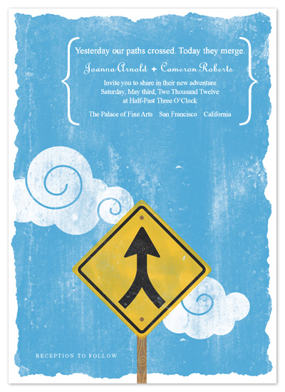 wedding invitations - Merging Paths by Carrie English