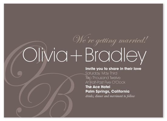 wedding invitations - Parkrose Drive by Gerard Palomo