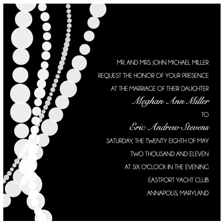 wedding invitations - Dangling Pearls by Preppy Paperie