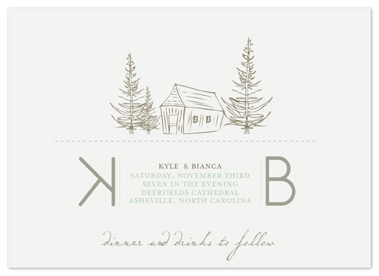 wedding invitations - Pale Forest by GZ