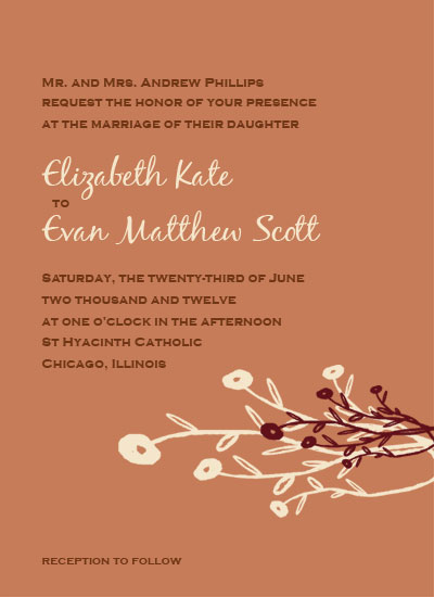 wedding invitations - TerraCotta Love by Kerri Rodenbaugh