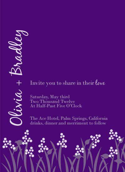 wedding invitations - Midnight Vineyards by Kerri Rodenbaugh