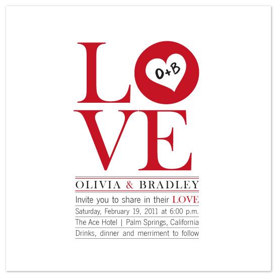 wedding invitations - L-O-V-E by melmade