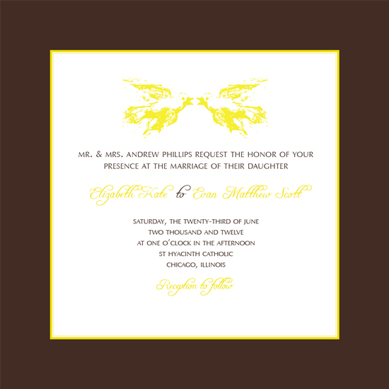 wedding invitations - Yellow Bird for Luck by Courtney