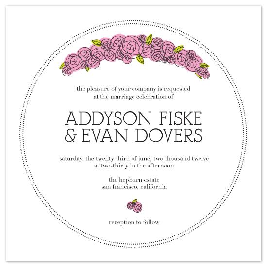 wedding invitations - Parisian Blooms by Raymond Roberts