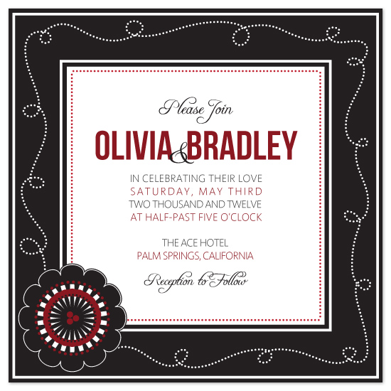 wedding invitations - Modern Daisy Chain by Kate Eileen Emmert