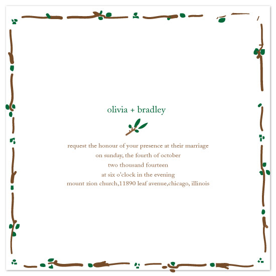 wedding invitations - Olive Juice by Rock Candy
