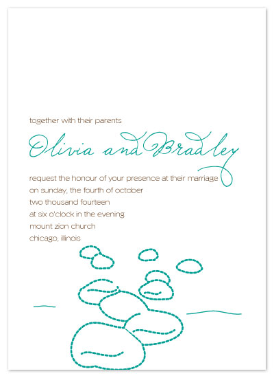 wedding invitations - Seas and Beyond by Rock Candy