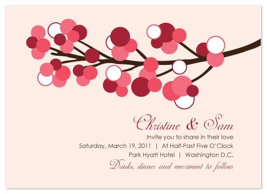 wedding invitations - Spring Blossoms by melmade