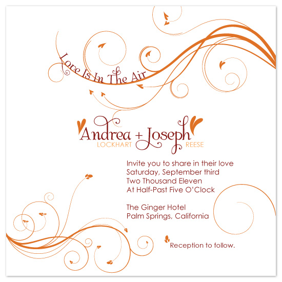 wedding invitations - Love Is In The Air by melmade