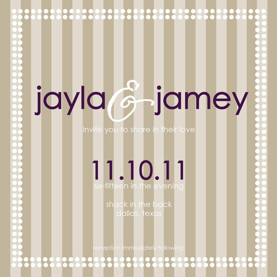 wedding invitations - Striped Wedding by Amber Fowler; Pressing Events