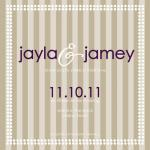 Striped Wedding by Amber Fowler; Pressing Events