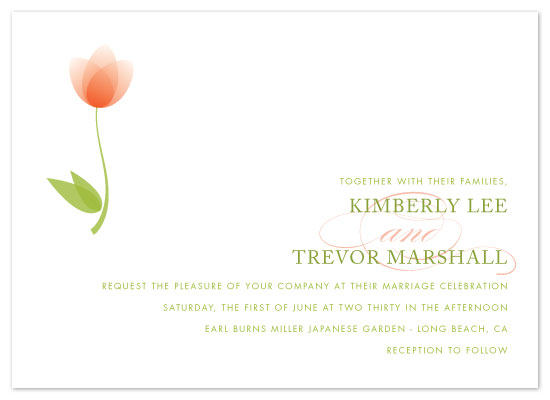 wedding invitations - spring tulip by Hoang Huynh