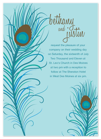 wedding invitations - Birds of a Feather by LindyLou Design