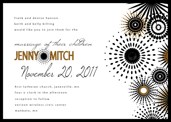 wedding invitations - sparkled with love by Ginger P Designs